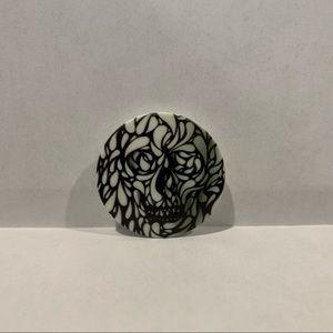 Black white hidden skull Popsocket Halloween New